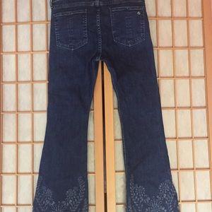 "rag & bone Jeans - Rag and bone, 10""crop flare leg embroidered Jeans"